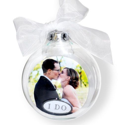 Wedding Photo Christmas Ornament