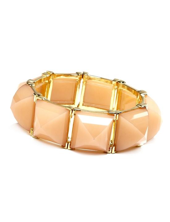 Pyramid Stone Stretch Bracelet - Women's Jewelry & Plus Size Jewelry - eloquii by The Limited