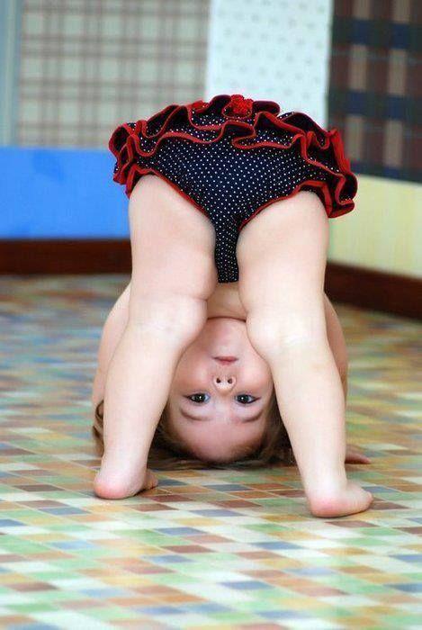 #baby #girl #cute #exercise #sport