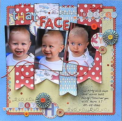 That Face Scrapbooking Layout Idea