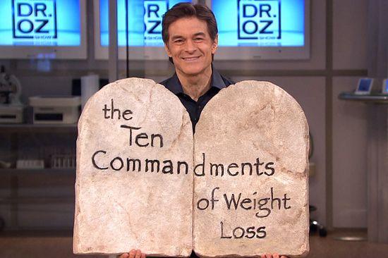 Dr. Oz Weight-Loss 10 Commandments