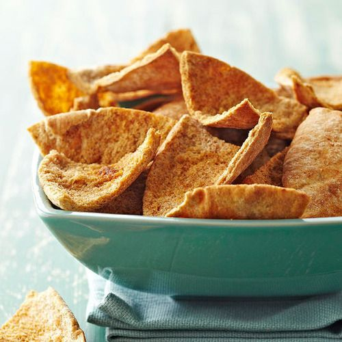 Daily Dish: Savory Baked Pita Chips. Get more Daily Dish recipes here: bhgfood.tumblr.co...