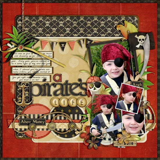 #papercraft #scrapbook #layout #Disney pirate scrapbook layout