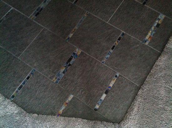 My new foyer tile floor.