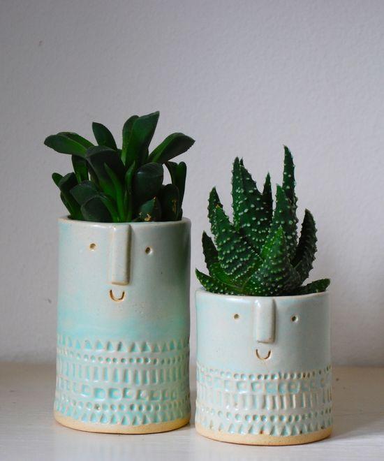 Atelier Stella Pair of Succulent planters