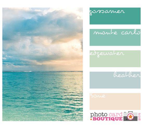 "perfect beach colors , love!!! I need a room painted in these colors...""me too!"""