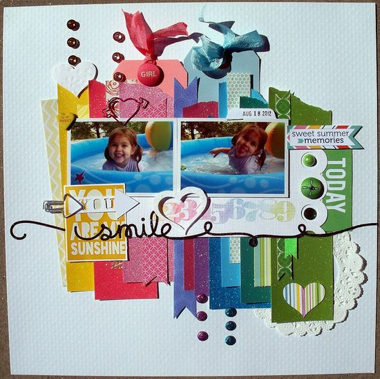#scrapbook #layout You are my Sunshine by Gina M