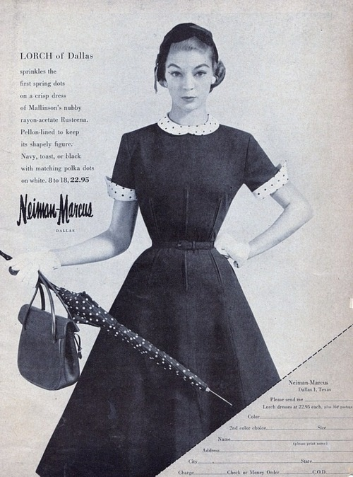 Neiman Marcus ad from the 1950s.