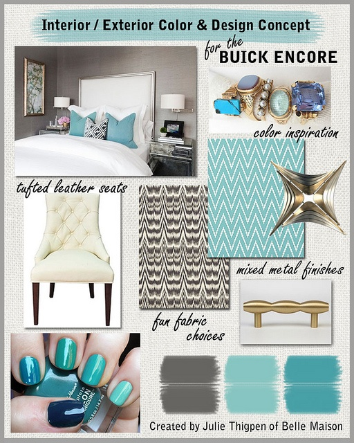 Inspiration Board - I created this board to showcase my design and color vision for my dream Buick Encore! #pinmyencore