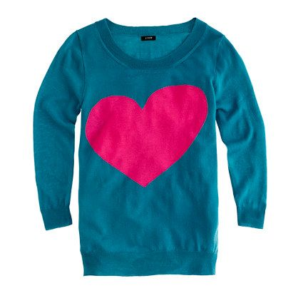 j.crew heart sweater