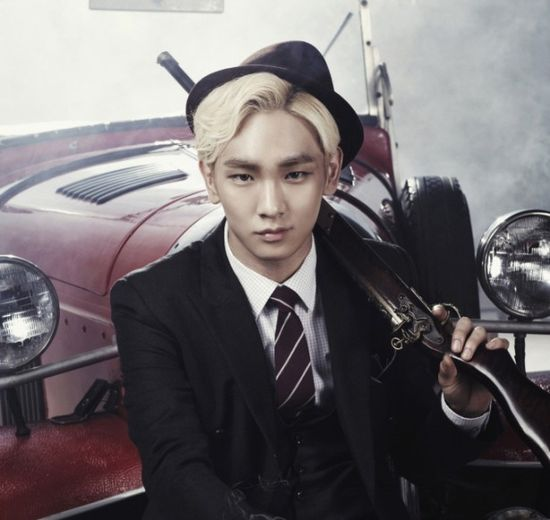 "Korean idol group SHINee's Key in a promotional image for musical ""Bonnie & Clyde,"" set to raise its curtains in Seoul, Korea on September 4, 2013. [CJ E]"
