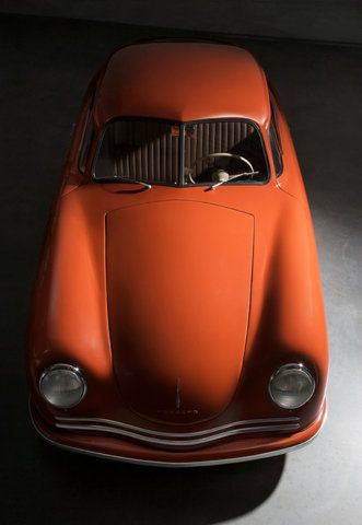 Vintage orange crush car.