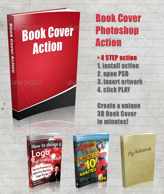 3D Book Cover Action  - GraphicRiver Item for Sale