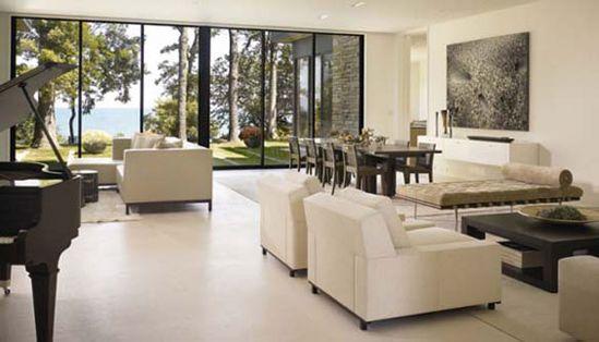 Modern Limestone Flooring Interior