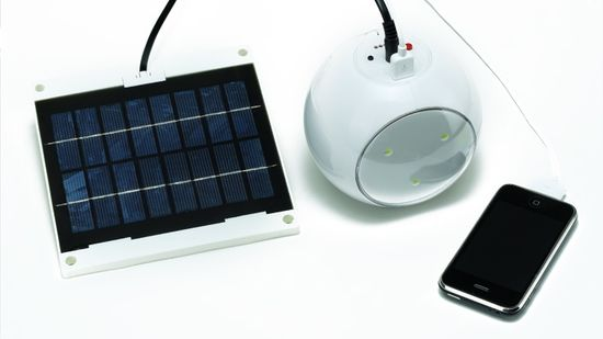 Solar Kit with USB port and charger.