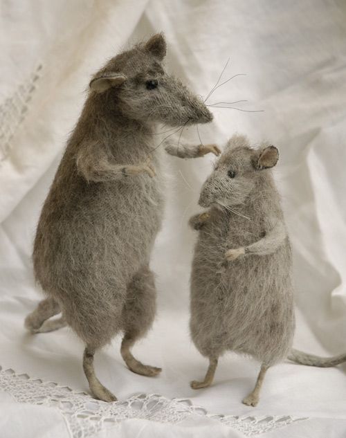 Stuffed Animals by Natasha Fadeeva - two stuffed rats