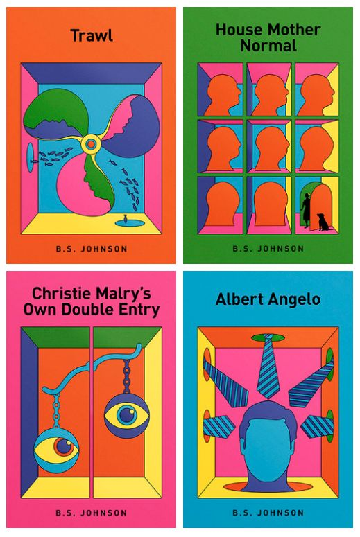 Unused book covers for B.S. Johnson