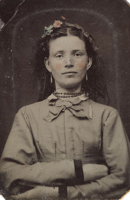 Portrait of a young woman, 1856-1900.