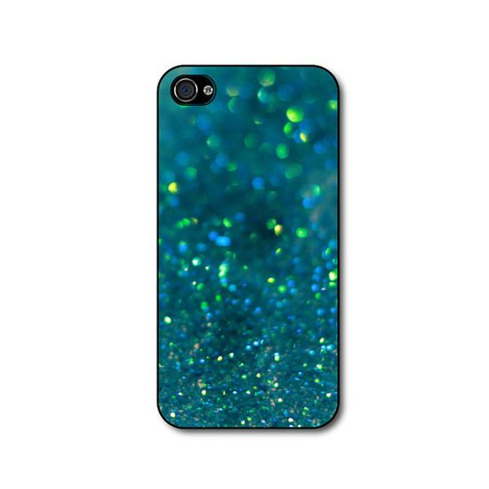 Glitter iphone case  Teal Glitter Case for iphone 4 by CaseHive, $16.99