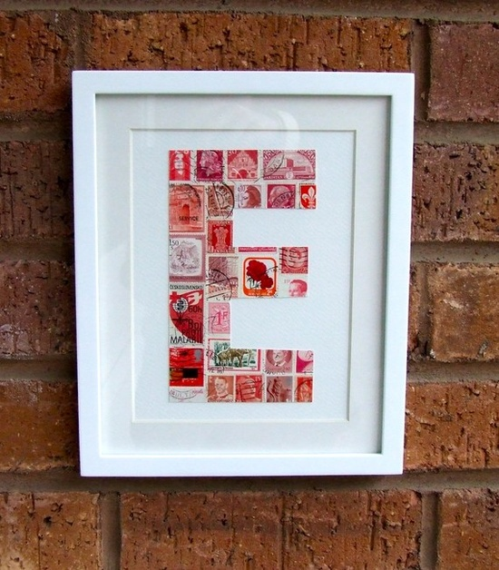 Postage stamp monogram