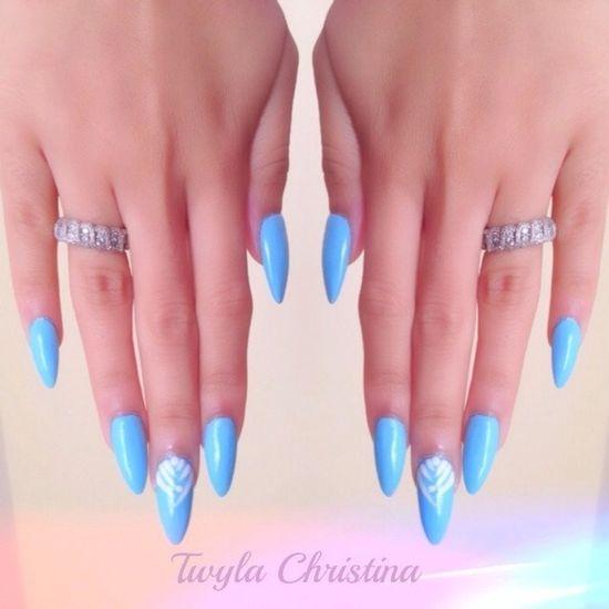 Blue Stiletto Nails- LOVING the stiletto nails
