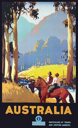 Vintage James Northfield Australian Travel Posters Prints - c, 1930's