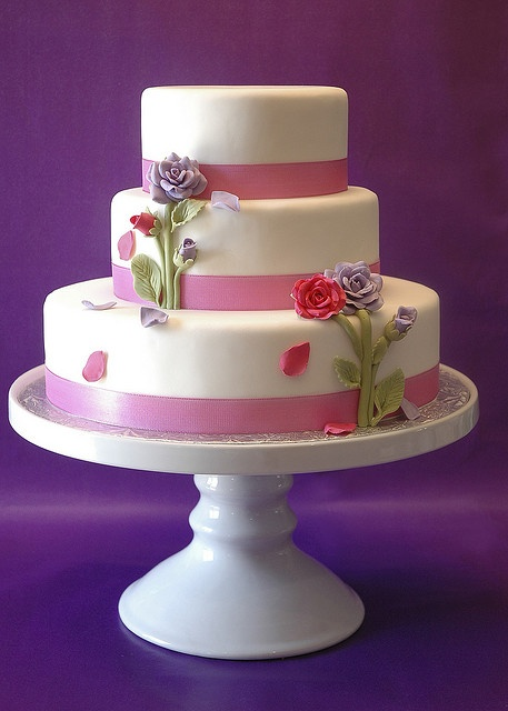 rose wedding cake by thelushcake, via Flickr