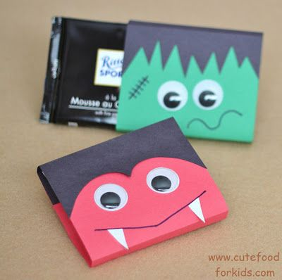 Frankenstein and Vampire Chocolate Bar Covers - bjl