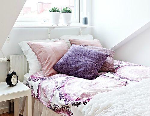 pretty design on the bedspread