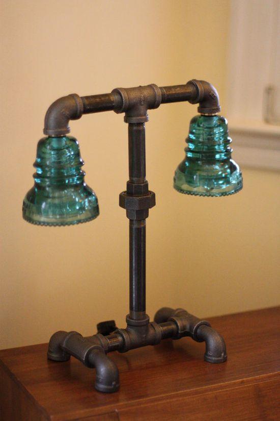 Pipe and insulator lamp