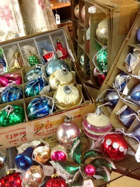 1950s - 60s Vintage Glass Christmas decorations & baubles.