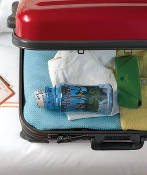 Nice travel tip: Roll up paper mementos and keep them in a wide mouthed water bottle to prevent damage.