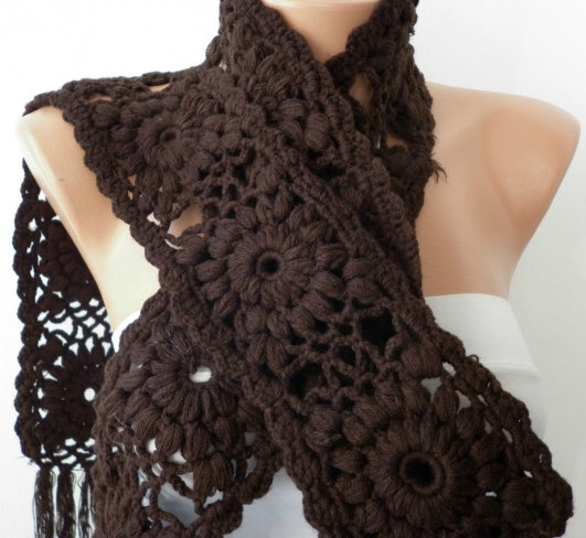 Crochet  Scarf  Women Cowl  Knit Scarf    Granny by fatwoman, $33.00