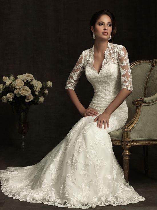 Allure Bridals 8900 Vintage Lace Wedding Dress