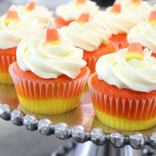 Candy corn cupcake recipe