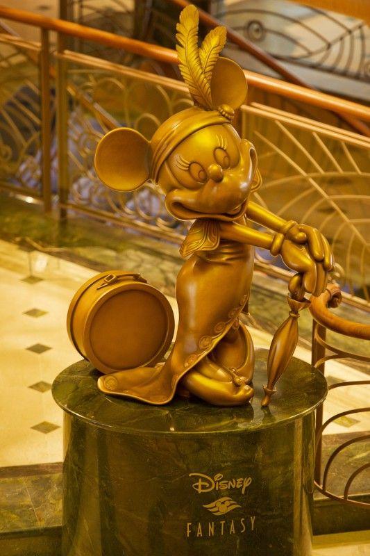 Mademoiselle Minnie Statue on the Disney Fantasy