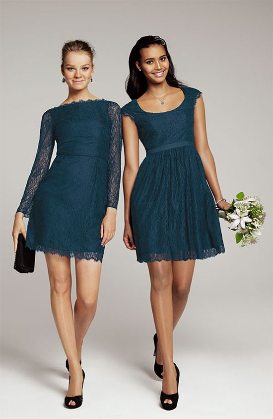 Lace Trend: Shoshanna 'Risa' Cap Sleeve Chantilly Dress #Nordstrom #Wedding #Bridesmaid