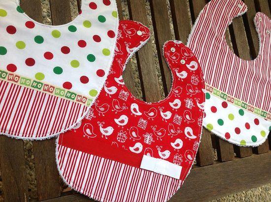 Christmas Feeding Bibs - Handmade Gift Ideas for Christmas from Handmade HQ