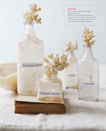 white halloween potion bottles