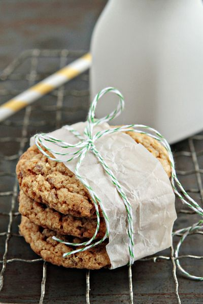 Butterfinger Cookies from @Jamie {My Baking Addiction}  Love the great styling.