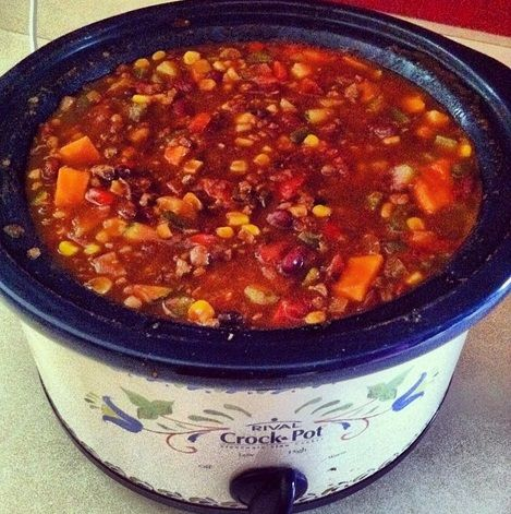 #vegan #crockpot chili soup @gracia fraile Gomez-Cortazar Langshaw