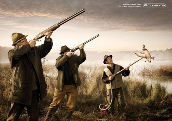 Who needs guns? Rowenta ducks vacuum cleaner #advert