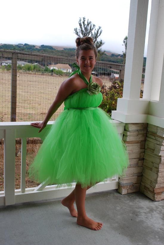 Tinkerbell Tutu Dress  Size 06T by dazeygirl707 on Etsy, $39.00