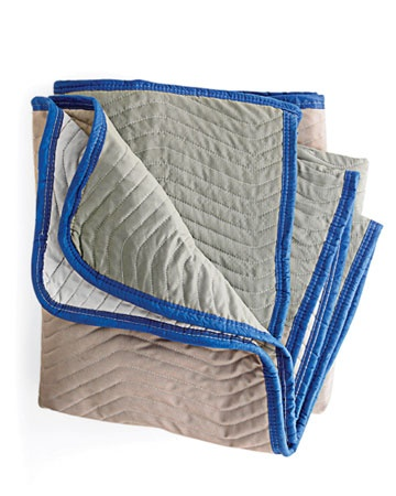 Packing Blankets - With blankets stowed in the trunk of your car, you can transport things safely. Keep a few at home, too, to protect floors during painting or light construction or to slide under a box to make moving it easier.