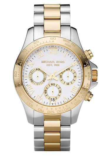 Want! Michael Kors Two Tone Watch