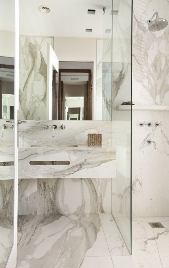 Fantastic marble bathroom