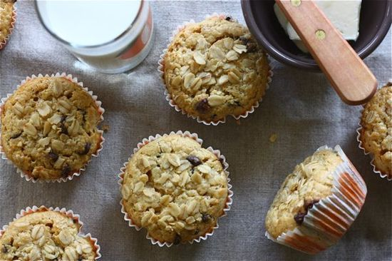 Oat Orange and Chocolate Chip Muffins