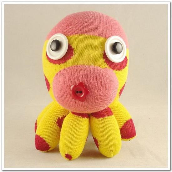 Handmade Sock Octopus Stuffed Animal Doll Baby Toys  #handmade #toys #toy #stuffed #stuffedtoys