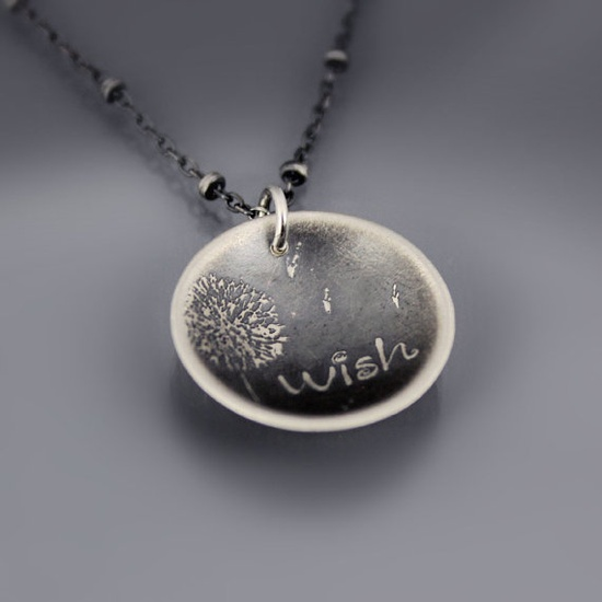 Dandelion Wish Necklace by Lisa Hopkins Design