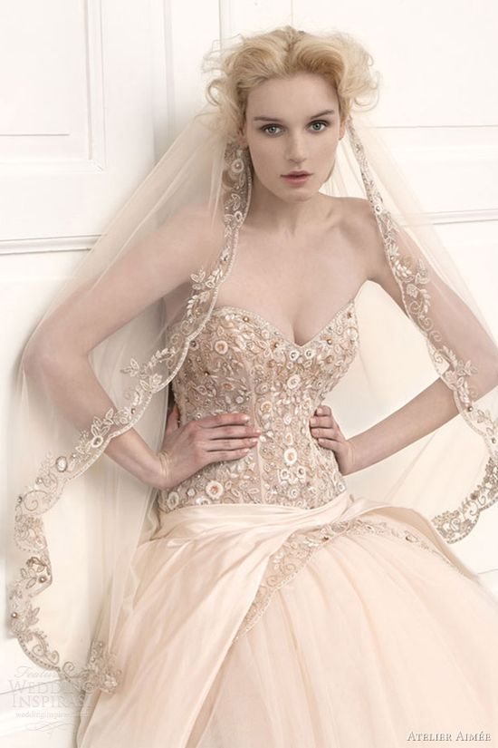 atelier aimee wedding dresses 2013 strapless ball gown rosa cipria